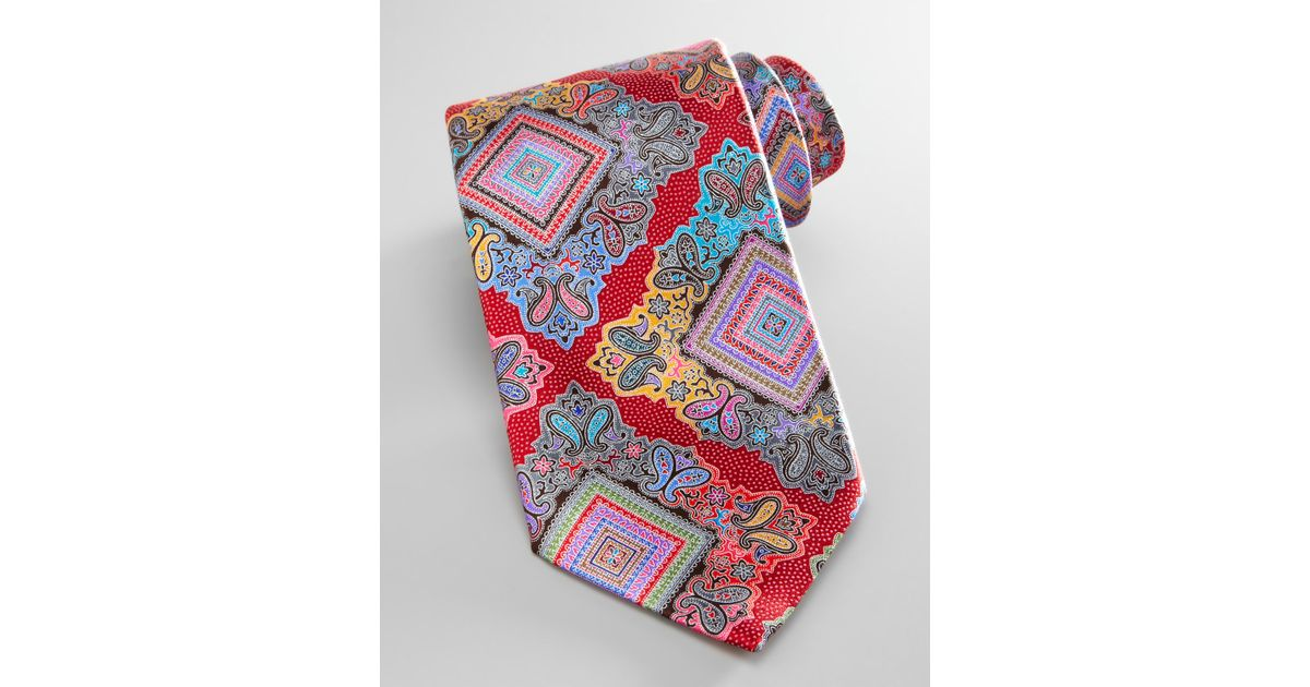 c90be518 Ermenegildo Zegna - Red Venticinque Silk Tie for Men - Lyst