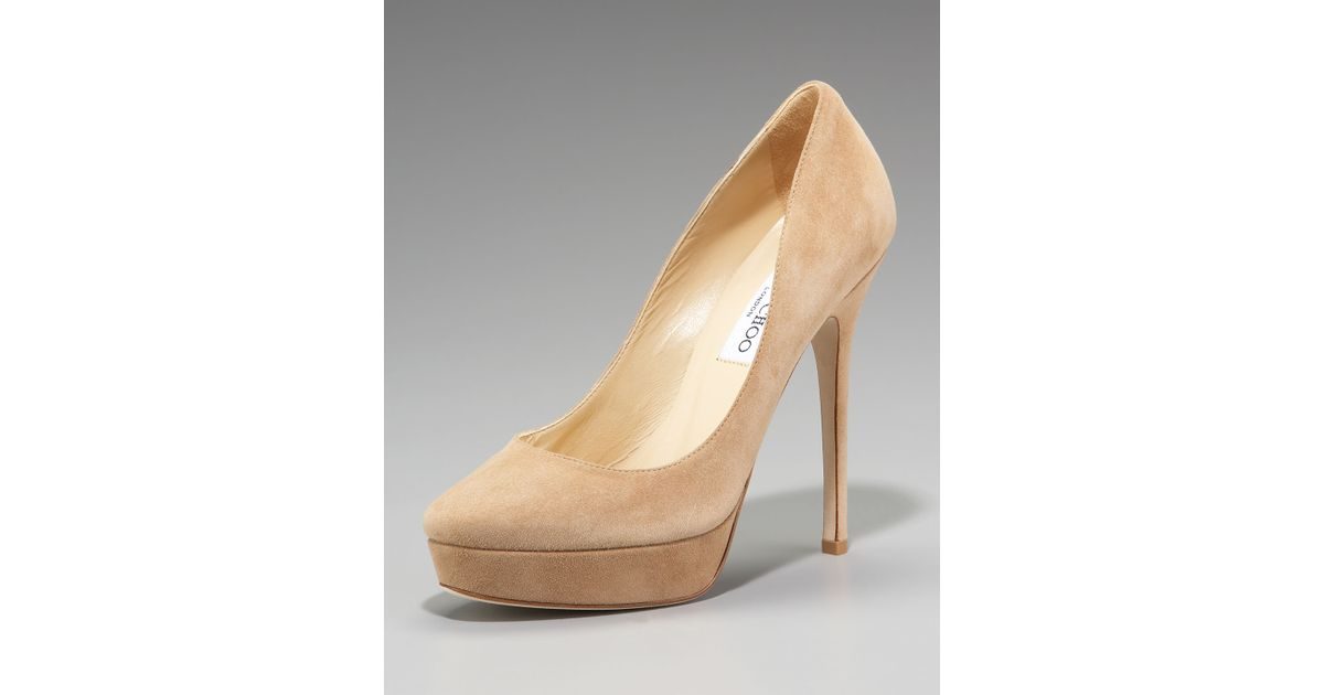cheap purchase Jimmy Choo Suede Platform Pumps popular cheap online new arrival for sale clearance explore XPfmHl71X