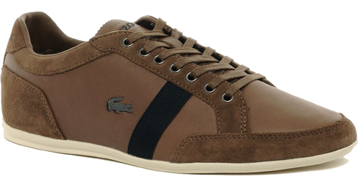 3a7480241b7cf Lyst - Lacoste Alisos Leather Trainers in Brown for Men
