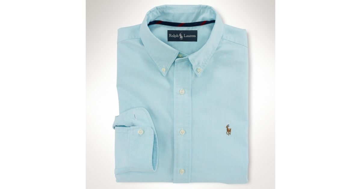 ff27d6186d35 Lyst - Polo Ralph Lauren Classic Fit Basic Oxford Shirt in Blue for Men