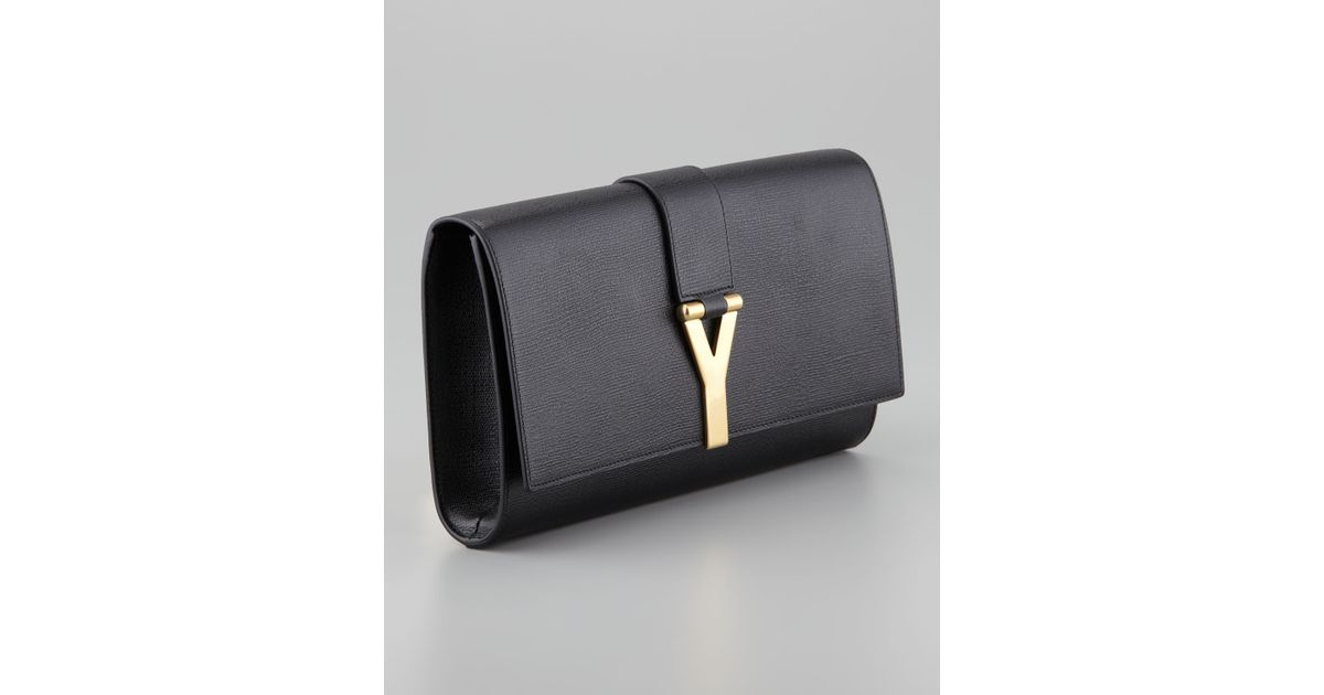 390ca9f21a Saint Laurent Cabas Chyc Clutch Bag in Black - Lyst