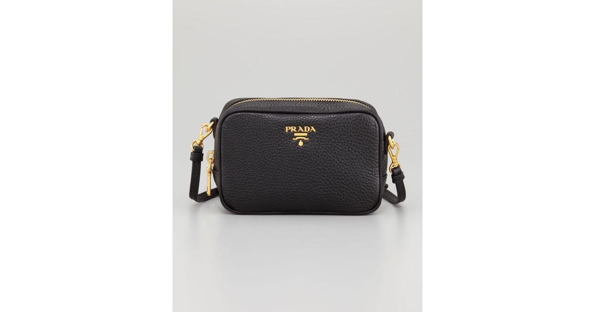 ... cheapest lyst prada mini ziptop crossbody bag in black 5a868 37f33 0e0e22fae9