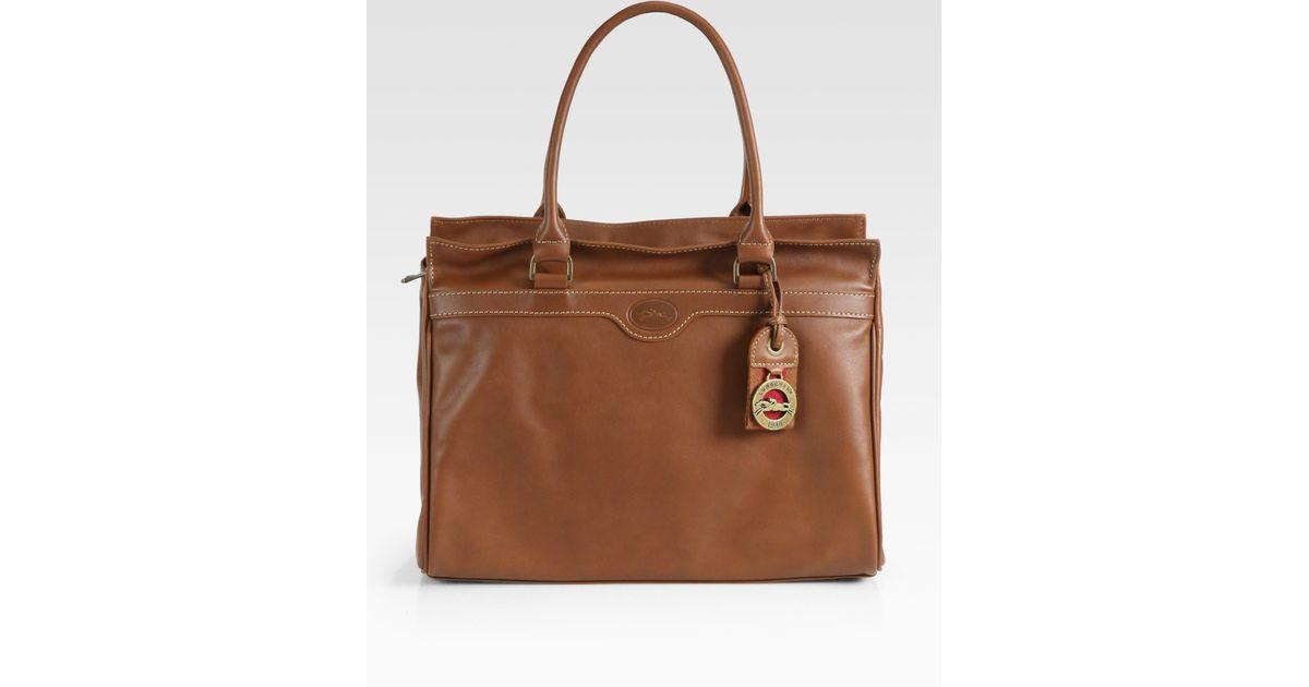 b0bdddd2a2b6 Lyst - Longchamp Au Sultan Top Handle Bag in Brown
