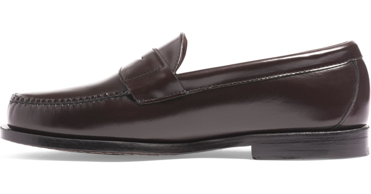 dcad207e762 Lyst - Brooks Brothers Classic Penny Loafers in Brown for Men