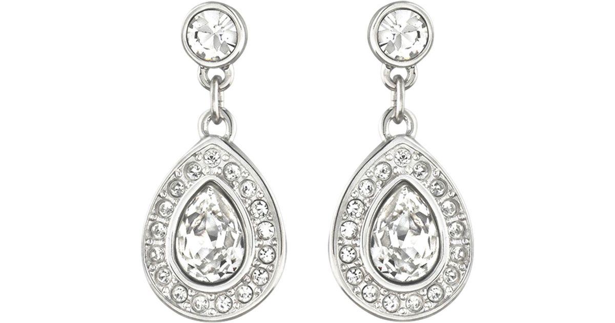 a1d7ae81c Lyst - Swarovski Sensation Pierced Earrings Small Rhinestone in Metallic