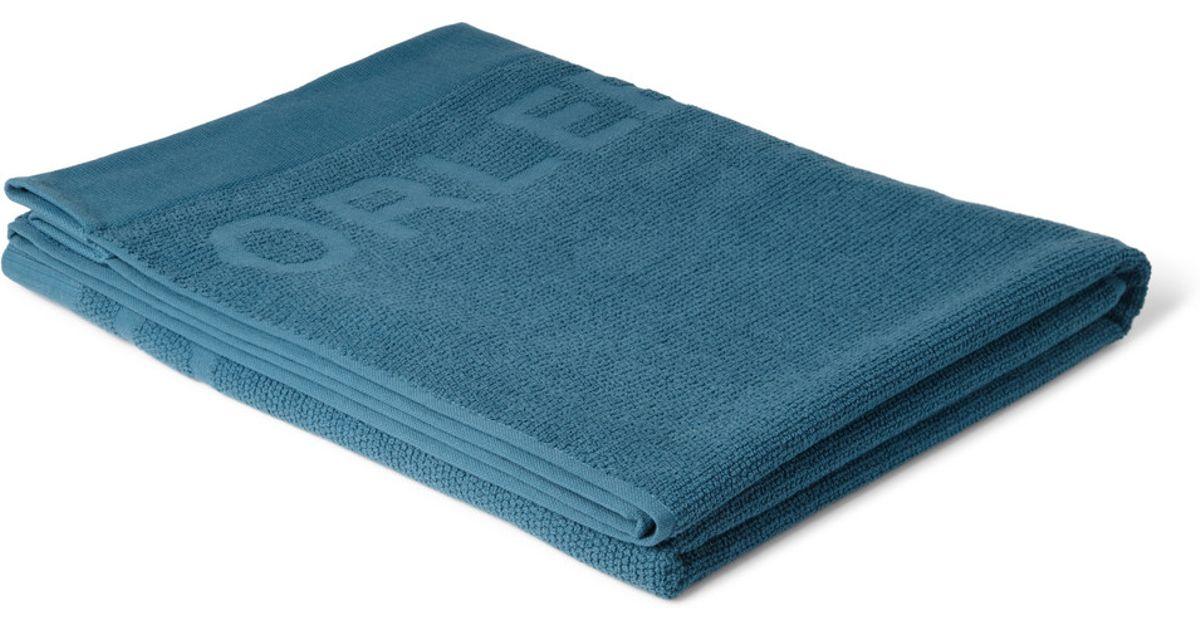 Lyst Orlebar Brown Beach Towel In Blue For Men