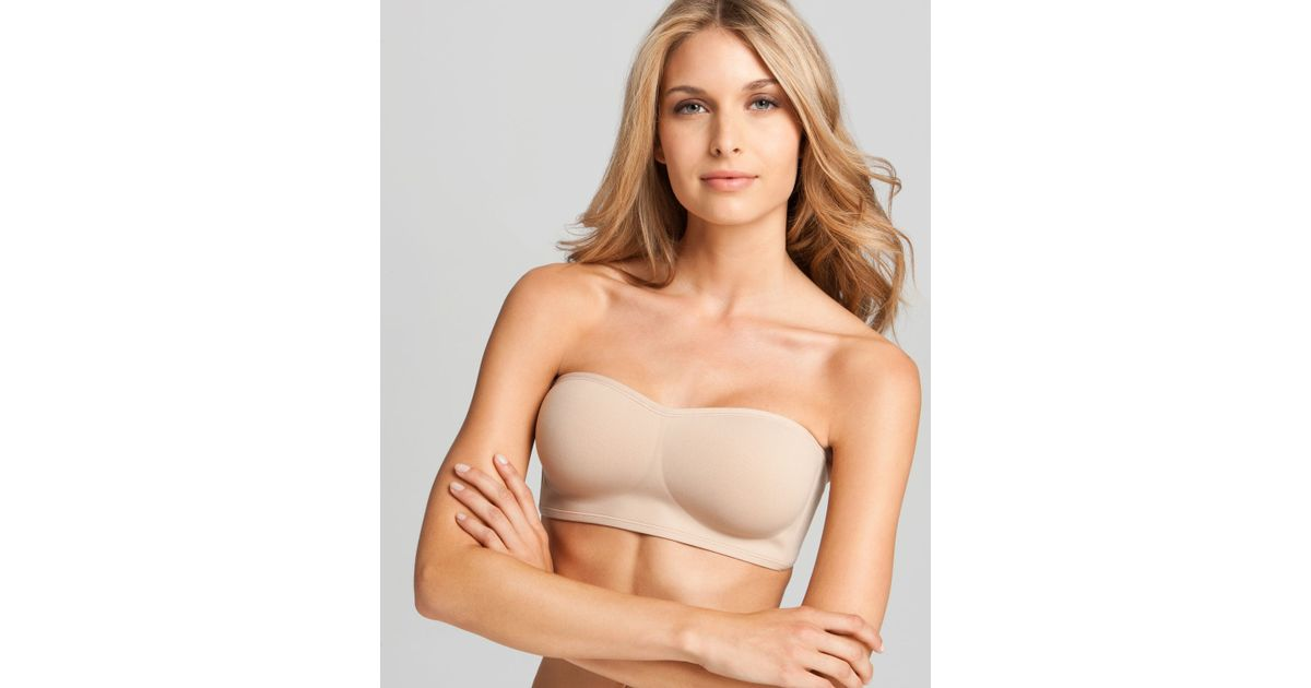 d645cf03306ef3 Lyst - Natori Wireless Contour Bandeau Strapless Bra in Natural