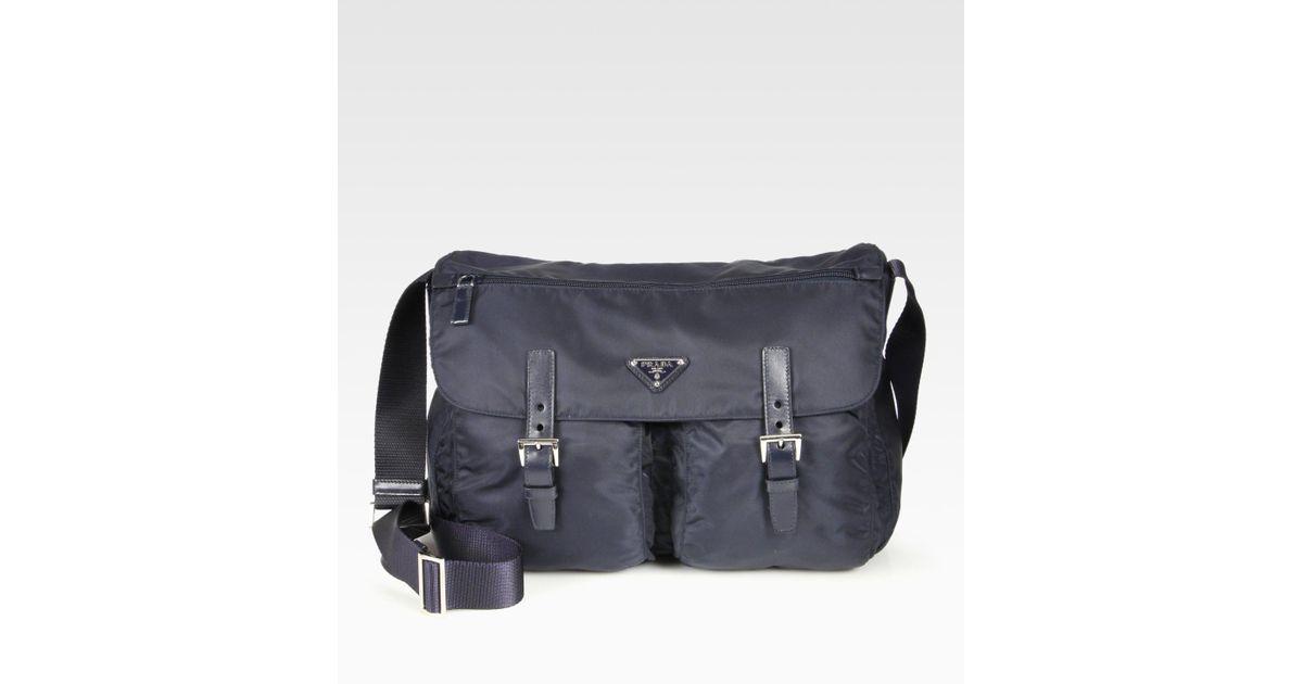 fb1bcfb88d3d ... official store lyst prada vela messenger bag in black 85686 f8b88