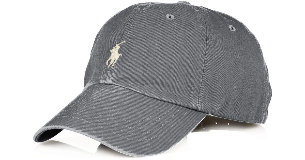 Lyst - Ralph Lauren Polo Classic Chino Sport Cap in Gray for Men 851422bcefa