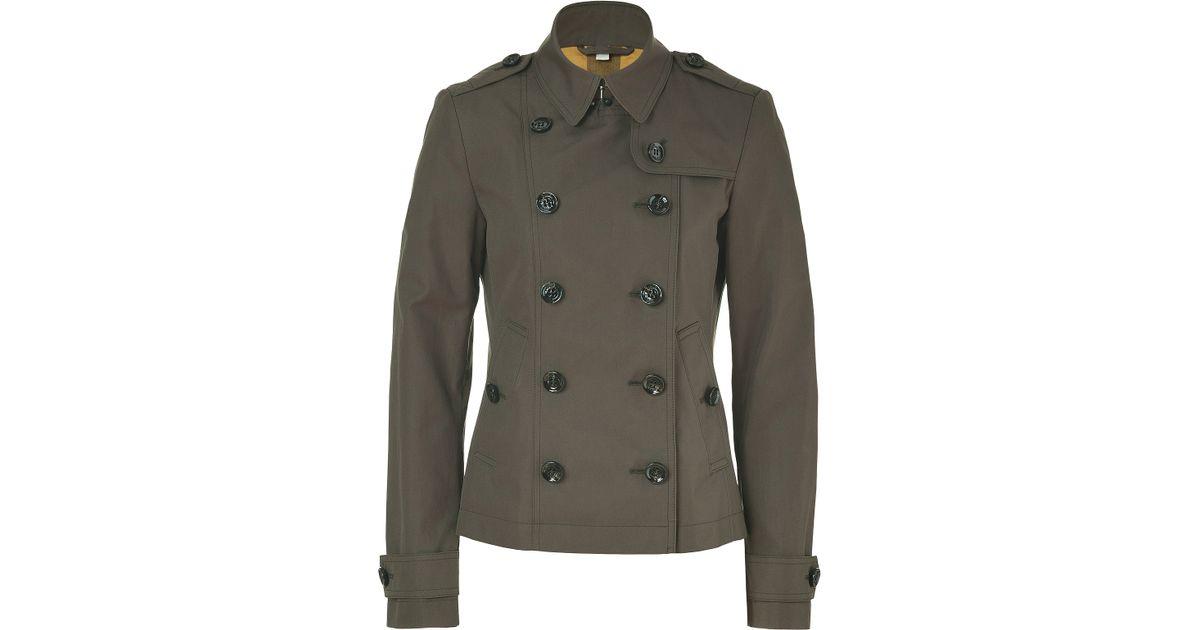 ba4b6ac6ecca Lyst - Burberry Brit Oregano Short Cotton Poplin Dukesby Trench Coat in  Natural