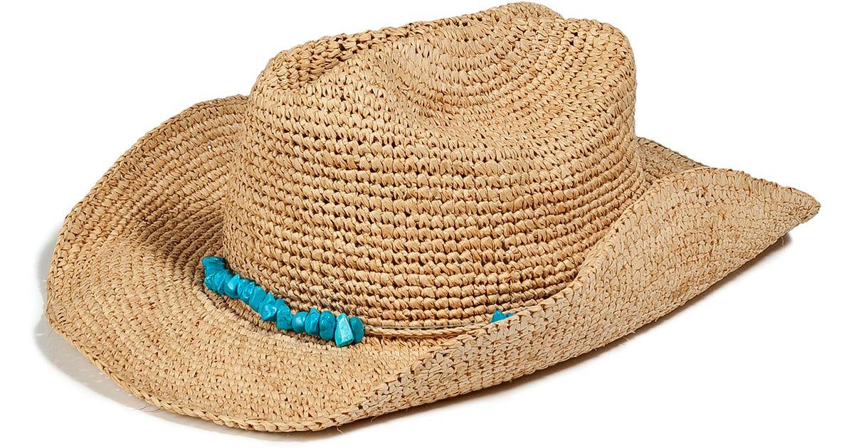 Lyst - Melissa Odabash Natural Elle Cowboy Hat in Natural 76d5b76da20a