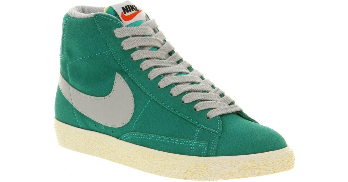 Nike Bleu Haut Top Bottes En Daim Vintage Blazer combien jeu recommande qualité supérieure rabais vente Manchester faux 3Wo624fJod