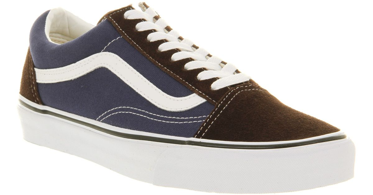 vans old skool blue brown