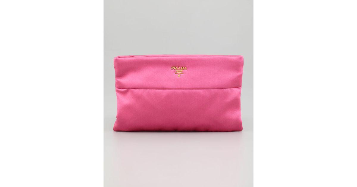 prada satin floral-accented handle bag