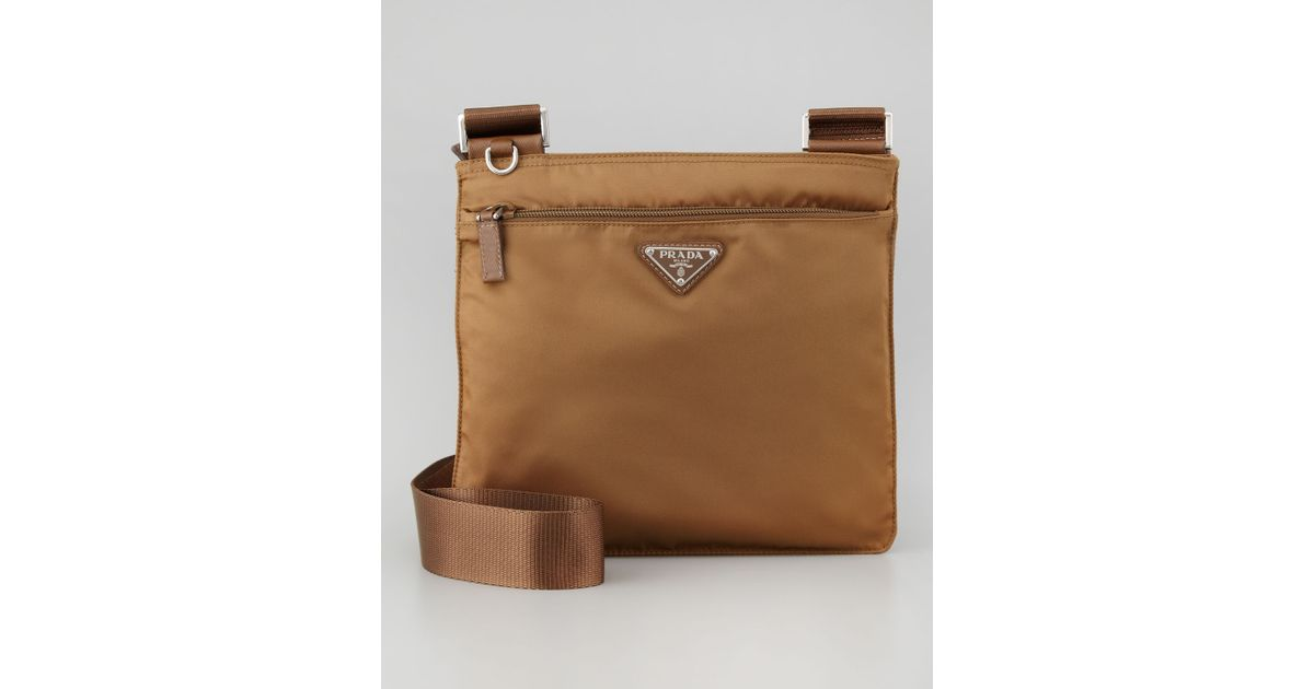 fb2e3791fc5d29 ... low cost top quality lyst prada vela crossbody messenger bag in brown  b8780 3c462 1218f da231