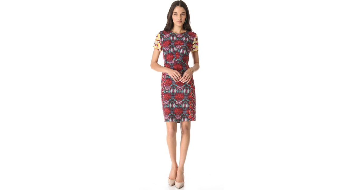 Lyst - Antik Batik Pencil Dress in Red 7c31814f3
