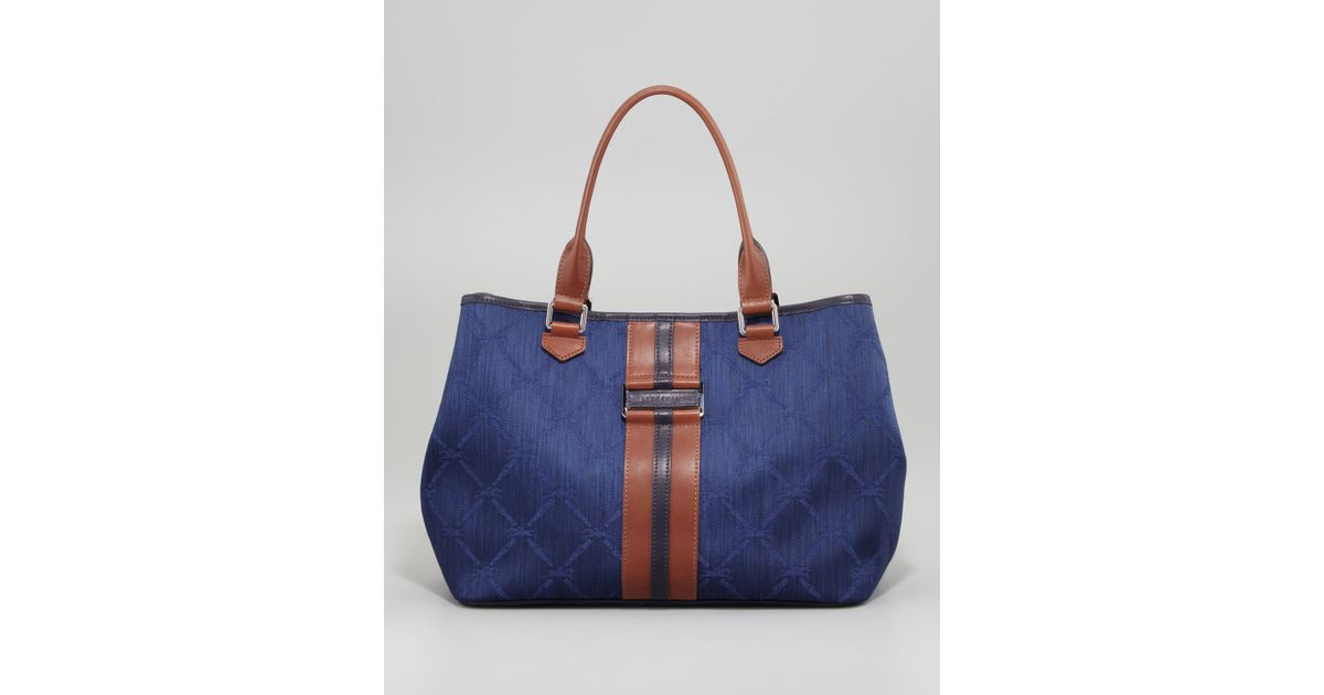 Longchamp Jacquard Tote Bag
