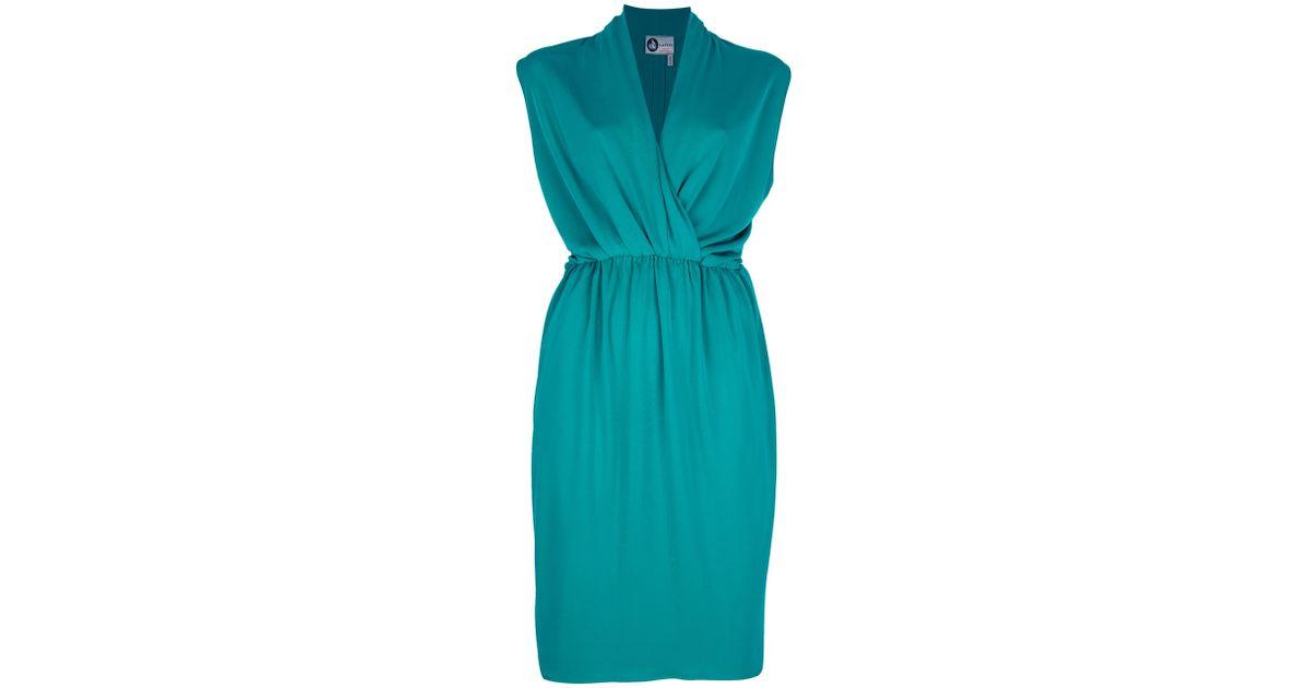 draped front dress - Green Lanvin j0dQki7aY
