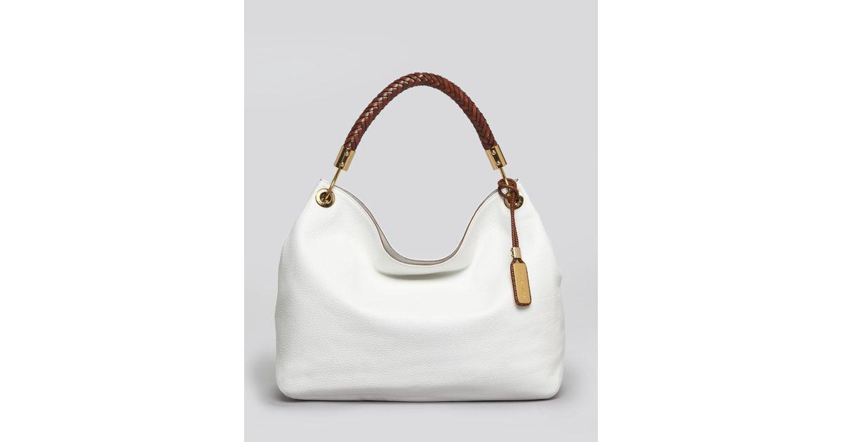 0b238d7b39d5c9 Lyst - Michael Kors Large Shoulder Bag Skorpios in White