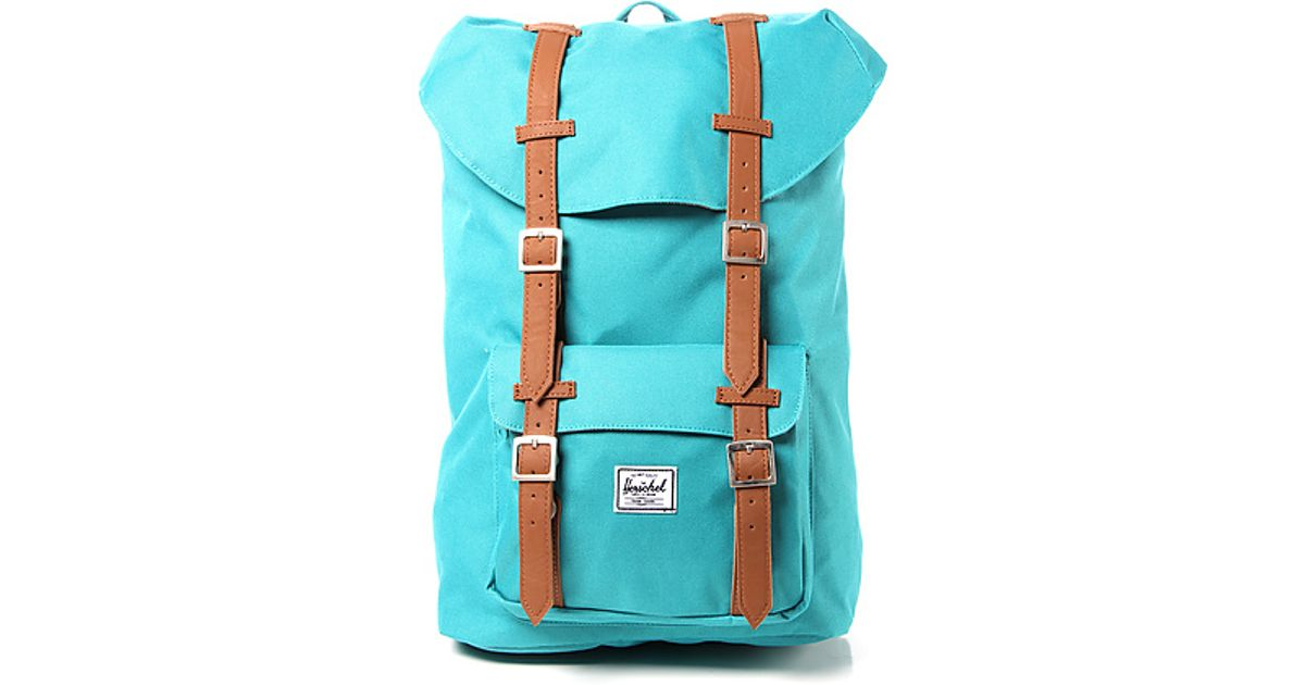 d7e8ad90042 Lyst - Herschel Supply Co. The Little America Mid Volume Backpack in Teal  in Blue for Men
