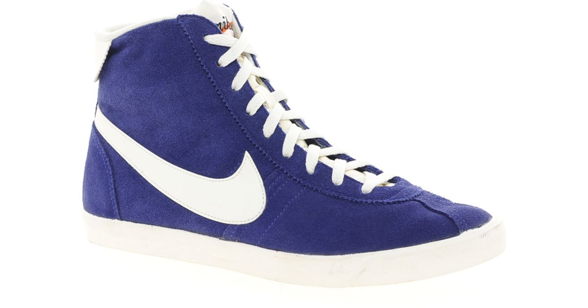 buy popular d1c06 53322 Nike Bruin Lite Mid Blue High Top Trainers in Blue for Men - Lyst