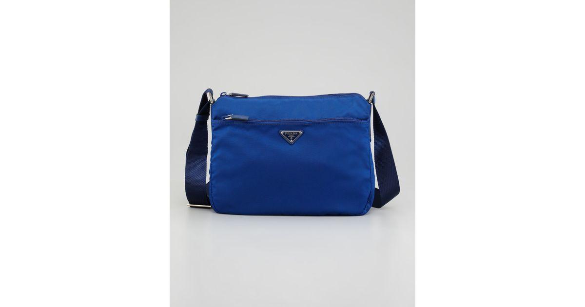 imitation prada handbags - Prada Nylon Hobo Bag in Blue | Lyst