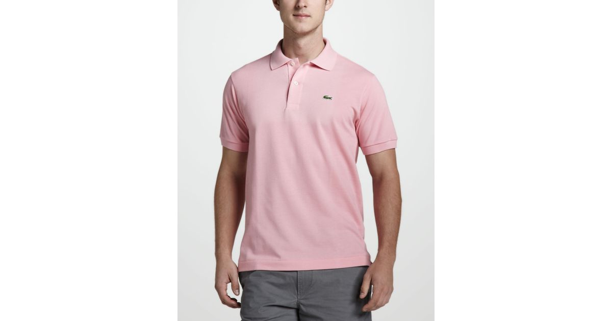 Lyst - Lacoste Classic Pique Polo in Pink for Men aaed34f8d7