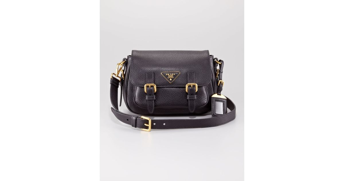 Lyst - Prada Vitello Daino Messenger Bag in Black 3ceae5e2ef