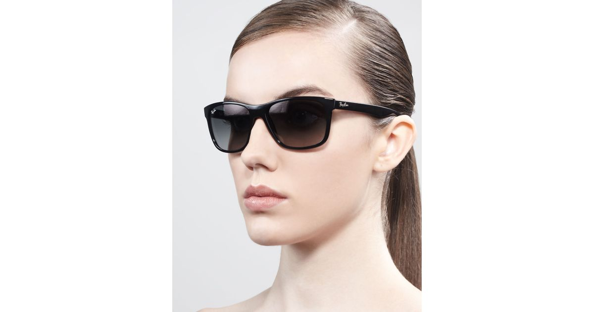 0a55f8ecf00 Lyst - Ray-Ban Logo-Temple Square Sunglasses in Black