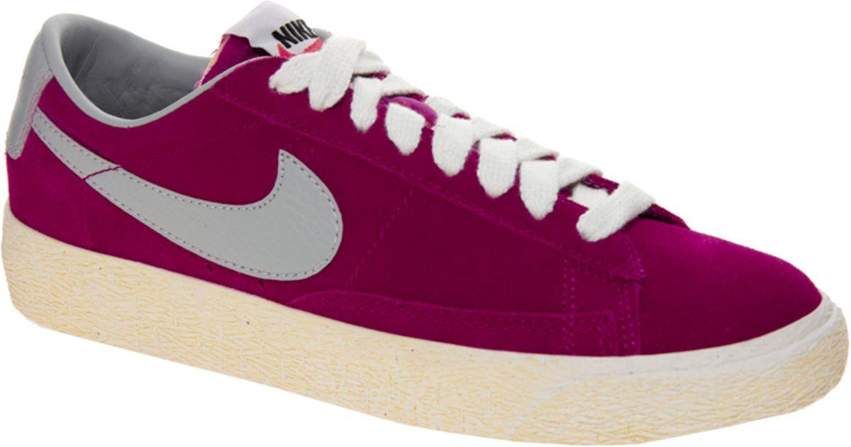 Nike Blazer Formateurs Faible Fuschia magasin de destockage qualité originale meilleure vente magasin à vendre en ligne tumblr rn7LED