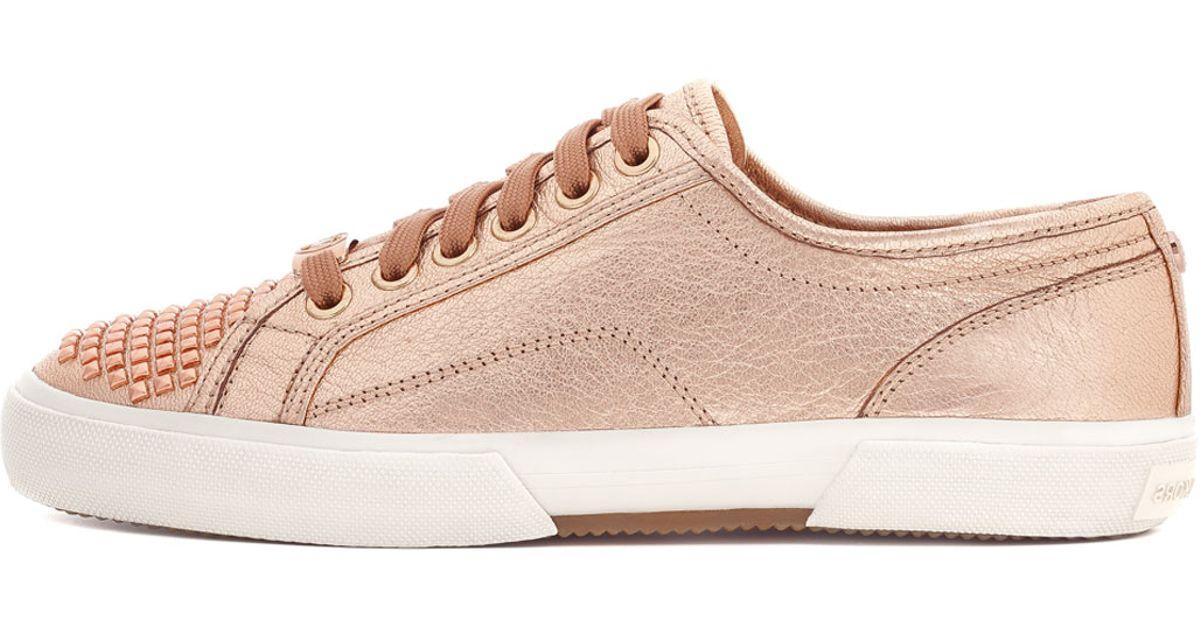Lyst Michael Kors Metallic Studtoe Sneaker In Pink
