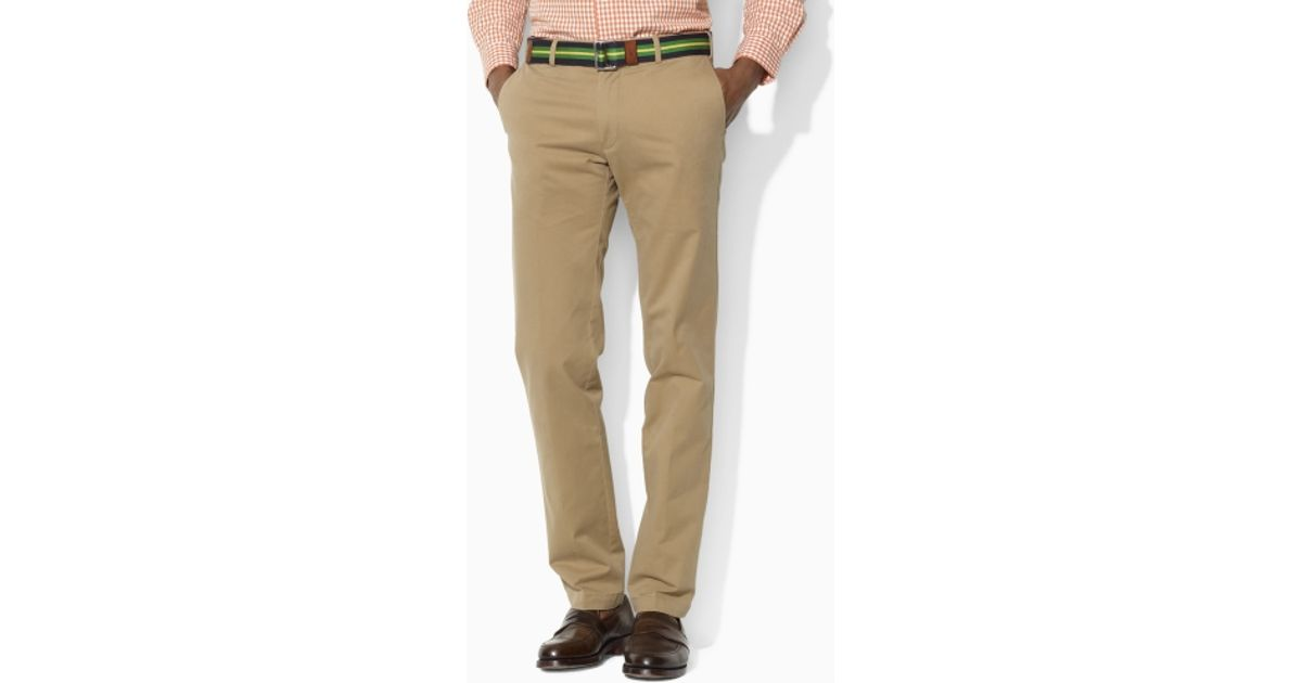 8ae518443b3 Lyst - Polo Ralph Lauren Custom-fit Stretch-twill Pant in Natural for Men