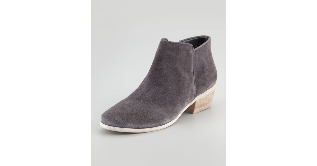 17090c39afe098 Lyst - Sam Edelman Petty Suede Ankle Boot in Gray