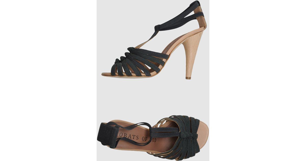 Sandals Acrobats Of Lyst High God Gray Heeled nkO80wP