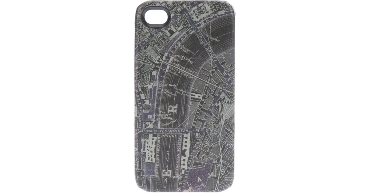 1952b5124703 Paul Smith London Map Iphone 4 Case in Gray for Men - Lyst