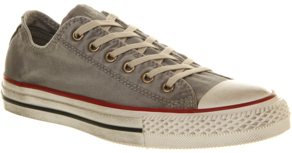 5f92ca62f4ba Lyst - Converse All Star Ox Low Well Worn Drizzle in Gray for Men