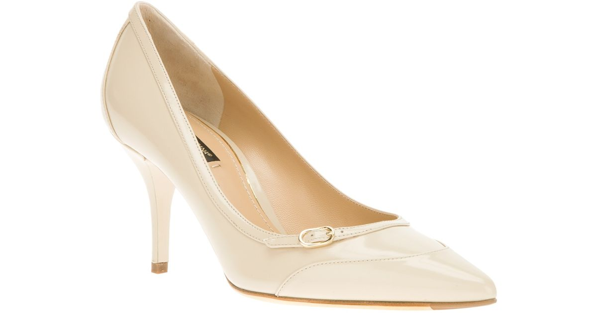 585012729c5 Dolce   Gabbana Kitten Heel Pump in Natural - Lyst