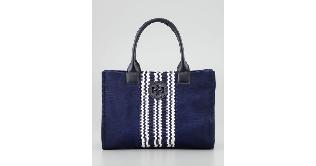 2b1752e6af9 Lyst - Tory Burch Mini Ella Striped Tote Bag in Blue