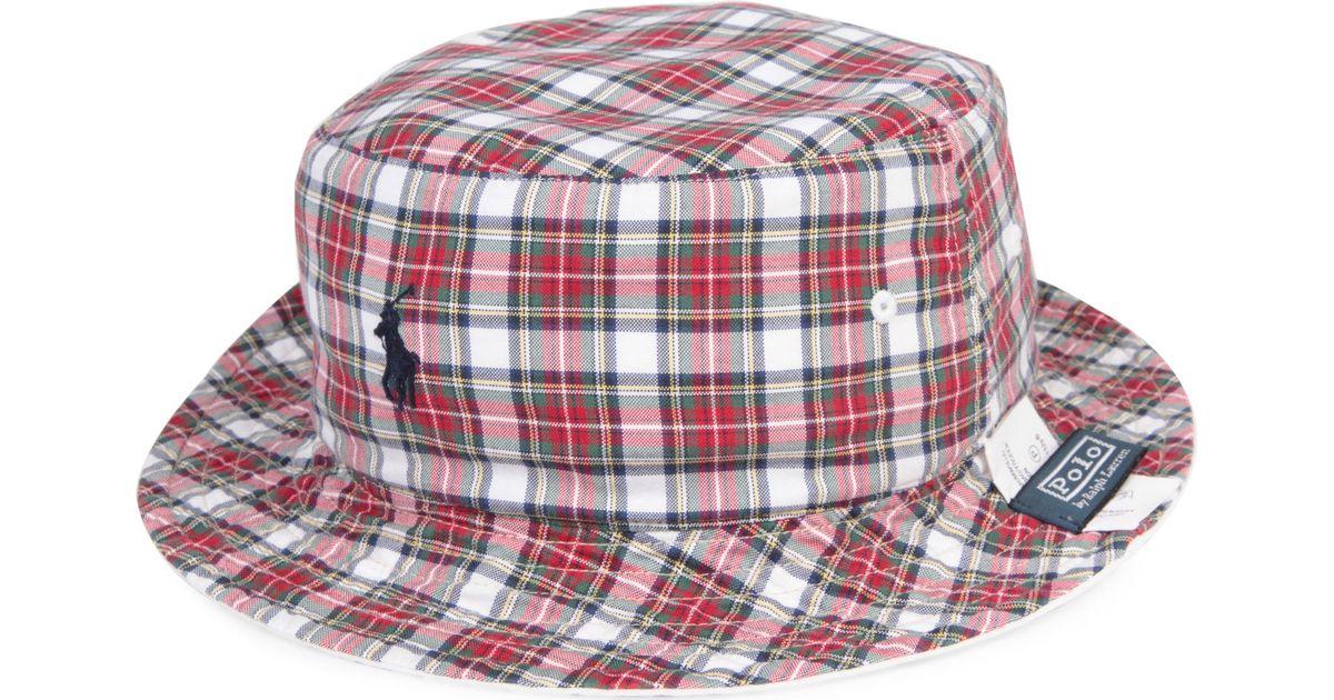 82e05a4659b Ralph Lauren Reversible Beachside Bucket Hat in Red for Men - Lyst
