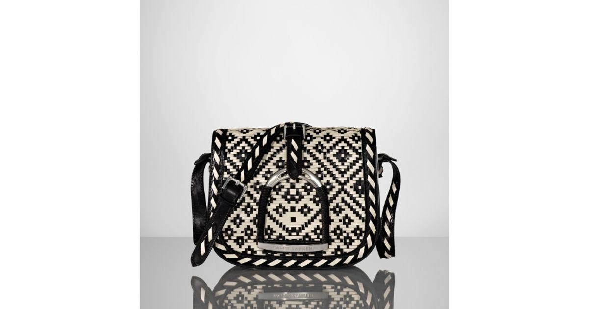 ... shop lyst ralph lauren vachetta huarache stirrup bag in black 250b0  60221 ... dac80b9adfe46