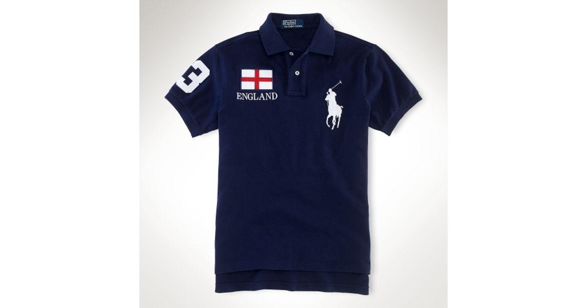 lauren ralph lauren polo shirts england flag polo shirt