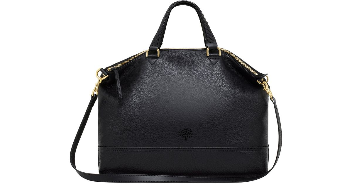 011974aea57b ... coupon code lyst mulberry marylebone leather bag in black 08fdb a60eb