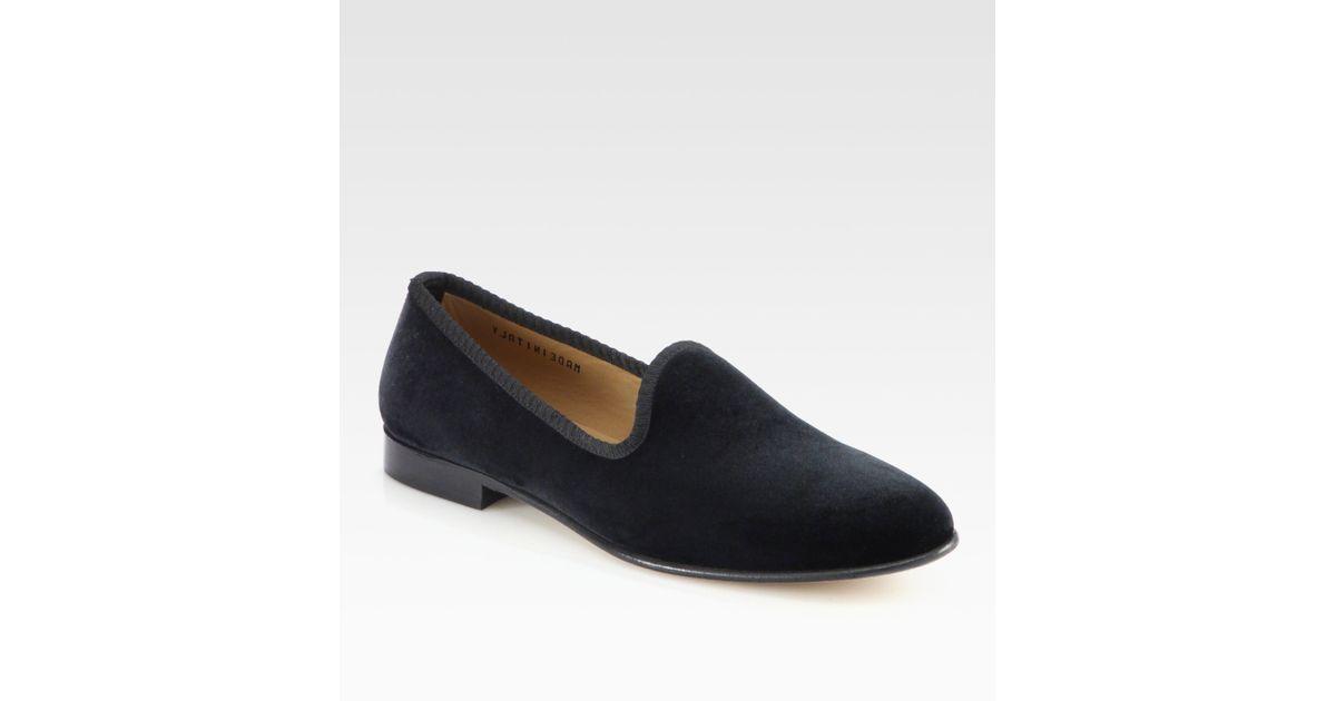 toro velvet slipper shoe in black for lyst