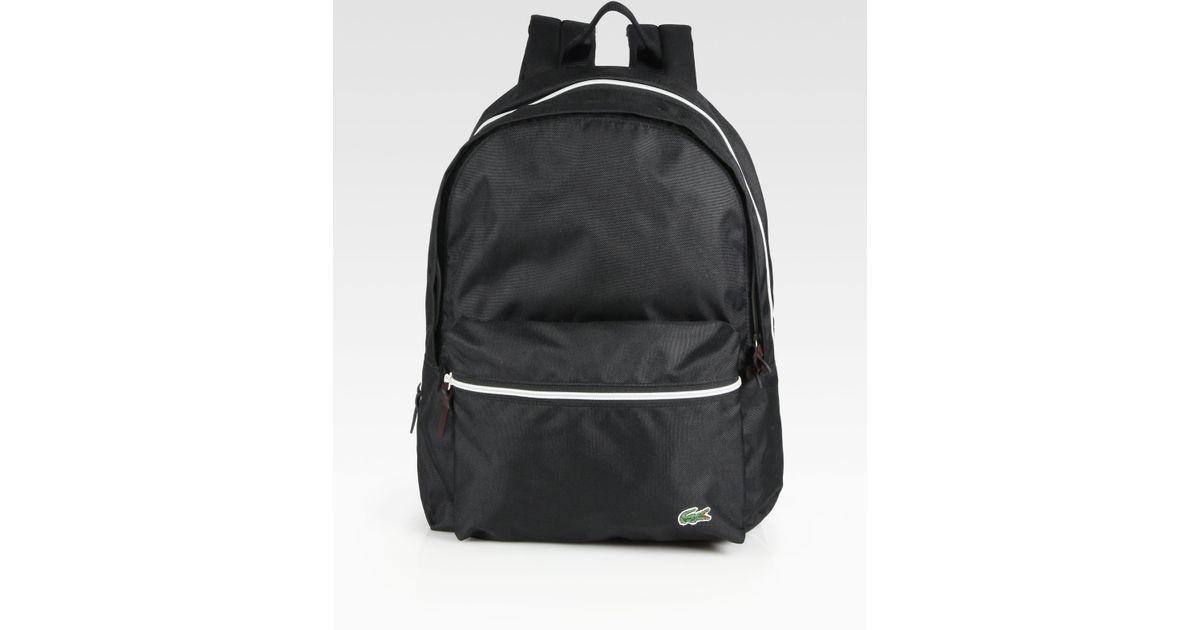 90a9d88286 Lacoste Backcroc Medium Backpack in Black for Men - Lyst