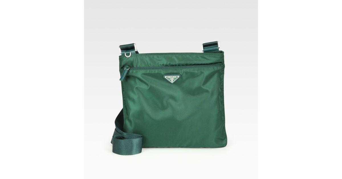 fbd1ffa736f4 ... bag photograph 4ad45 2881f; low cost lyst prada vela medium flat  messenger in green 3efcd 26437