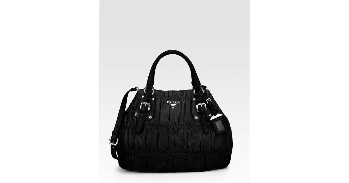 authentic prada handbags discount - Prada Eastwest Nappa Gaufre Tote in Black (nero) | Lyst