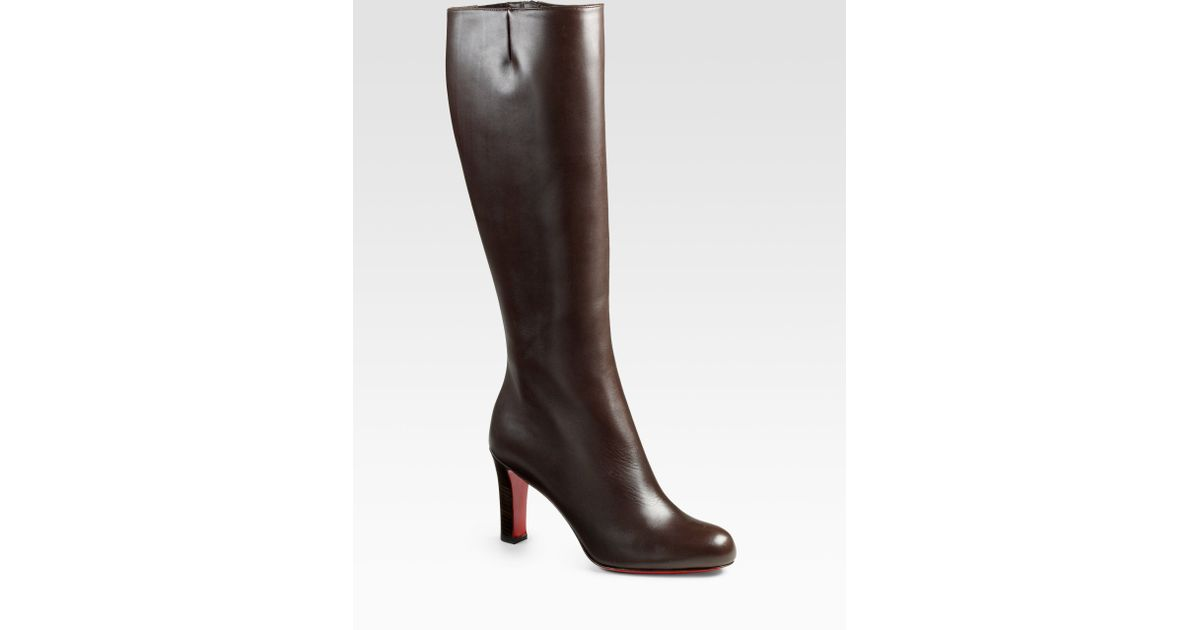 Christian louboutin Miss Tack Botta 85 Leather Kneehigh Boots in ...