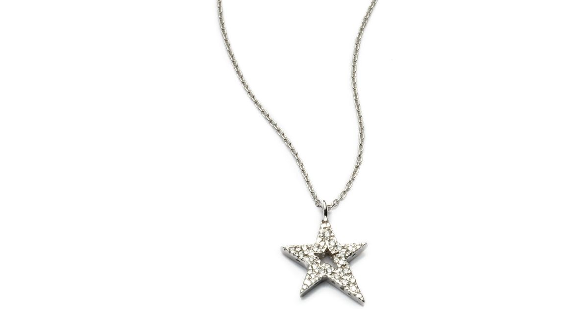 Lyst kc designs diamond star pendant necklace in white aloadofball