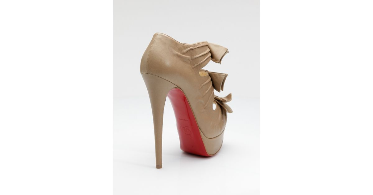 ba463683a37 Lyst - Christian Louboutin Madame Butterfly Platform Pumps in Natural