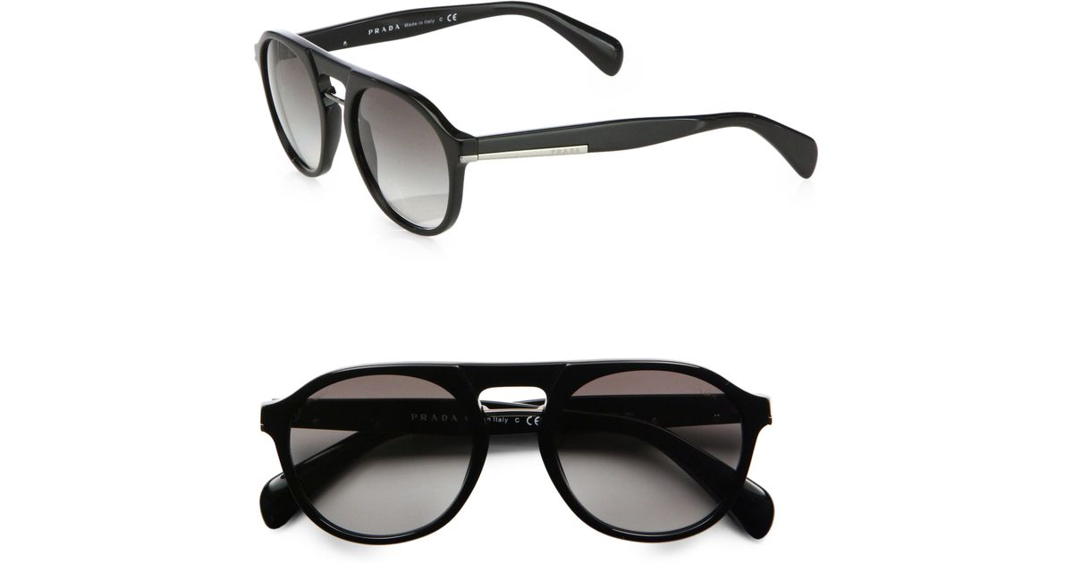 d8bc54056fde7 ... discount lyst prada plastic keyhole sunglasses in black for men b9970  d6e4d